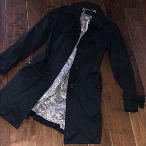 Banana Republic Factory Black Trench Coat